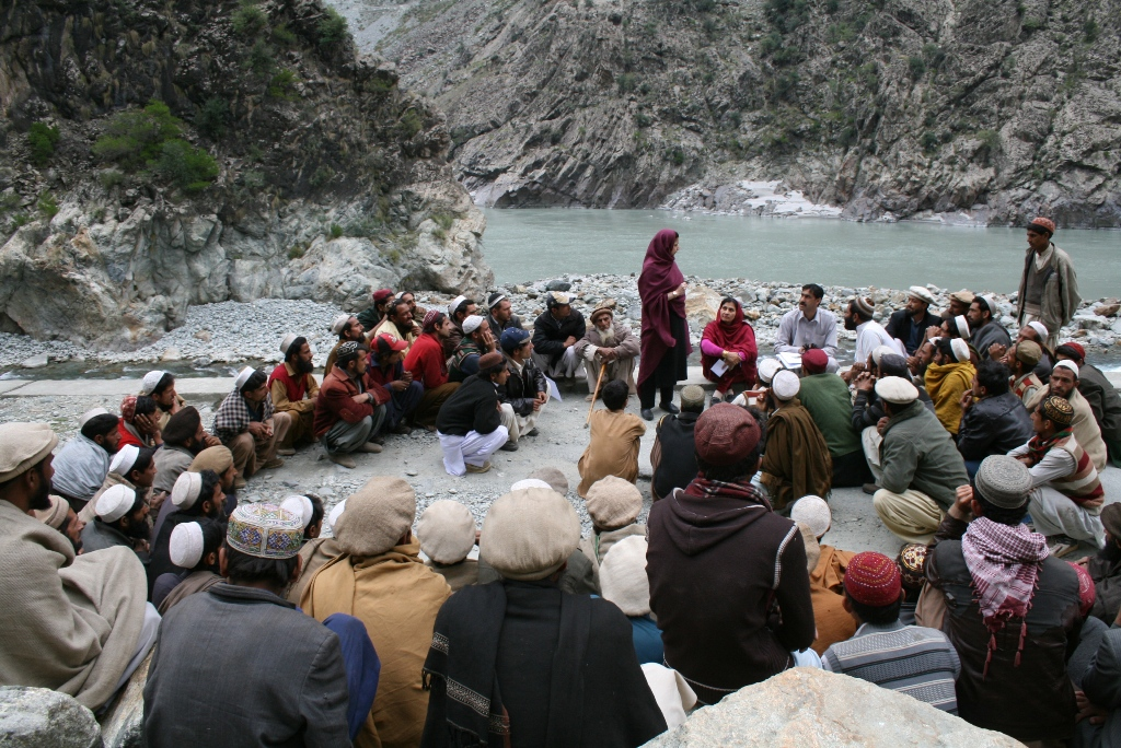 Organizing System For Relief Distribution, Kandian Valley, District Kohistan