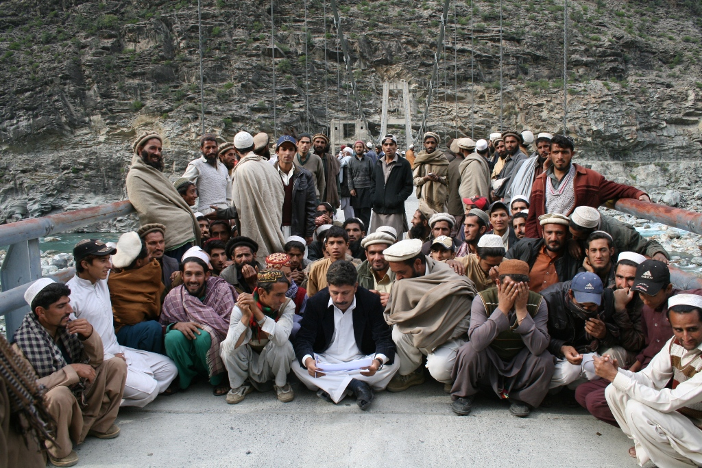 Organizing People And Keeping Them Calm, Japan Bridge, Kandian Valley, District Kohistan