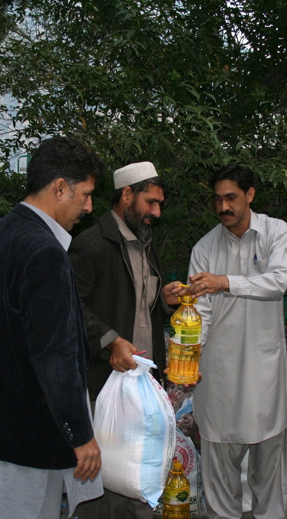 Providing Relief Assistance, Dubair Valley, District Kohistan