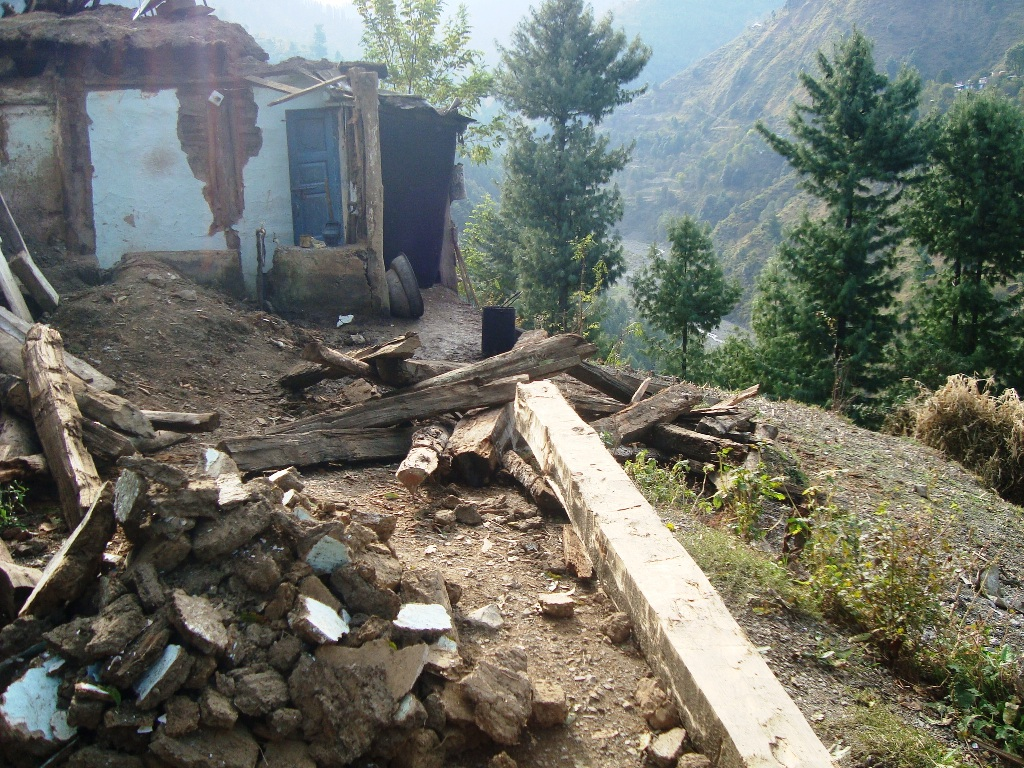 Homes Collapsed Due To The 2015 Earthquake, District Abbottabad