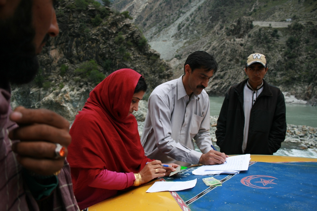Drawing Up Lists For Delivery Of Relief Packages, Kandian Valley, District Kohistan