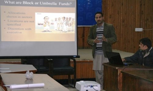 Sharing Experiences In Budget Work Peshawar Press Club