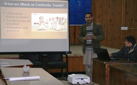 Mr Mohsin Ali Presents The Issue Of Block Funds In Provincial Budgets